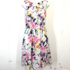 ROBBIE BEE Lined Floral Sleeveless Dress ~sz 10